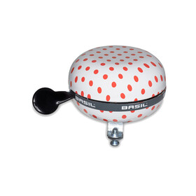 Basil Big Bell Polkadot Bike Bell red/white